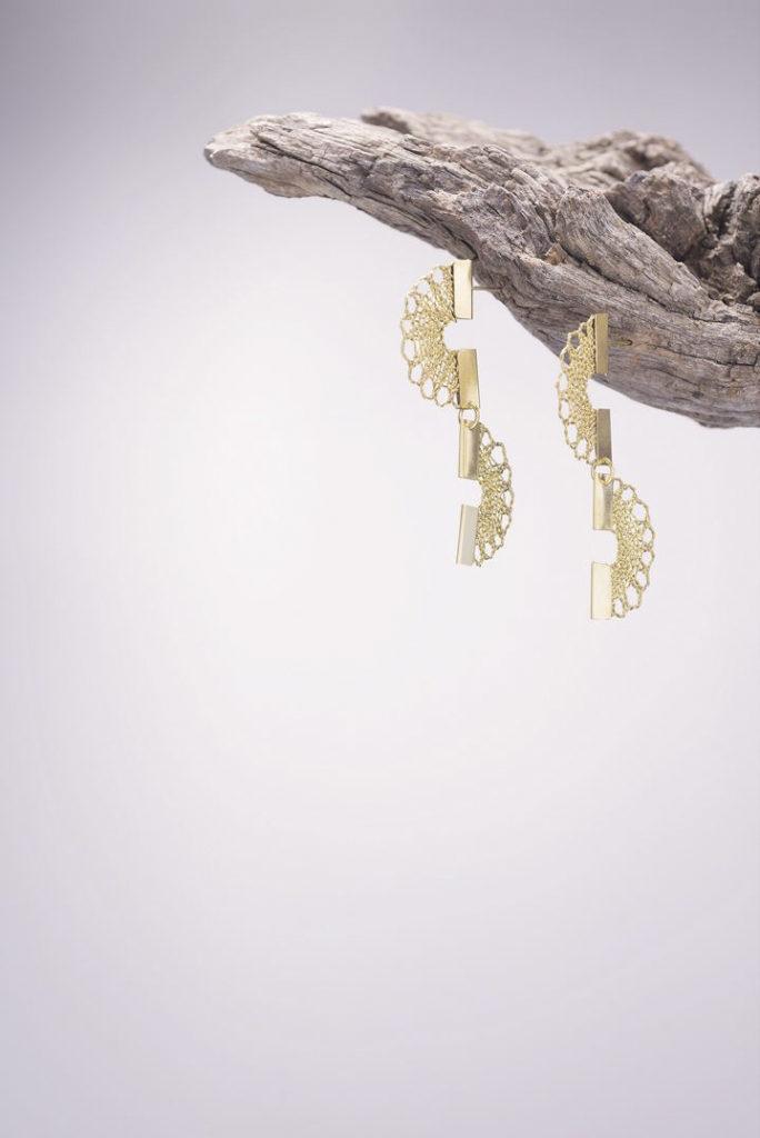 Ariadne's Thread – Canary – Bobbin Lace Jewellery +2